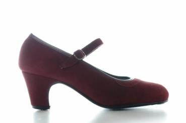 Flamenco Schuhe 250/T5 bordeaux Rauhleder benagelt