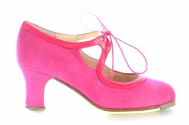 Flamencoschuhe Model Elda pink