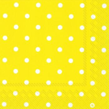 Lunch-Servietten LITTLE DOTS yellow