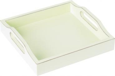 Holztablett PERSONAL STYLE TRAY white